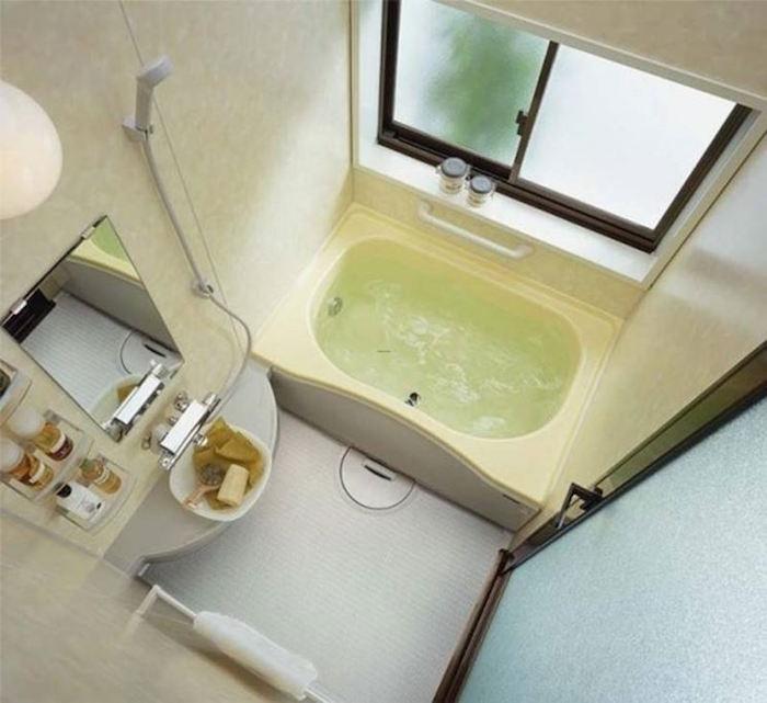 baignoire rectangulaire encastrable gain de place petite salle