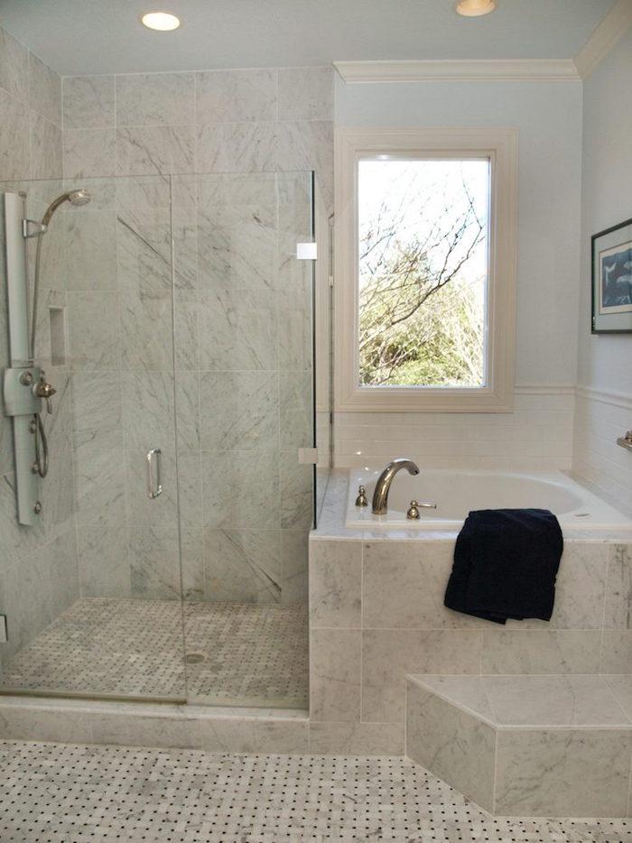 baignoire mini ronde salle de bain douche angle - Salle De Bain Douche Et Baignoire