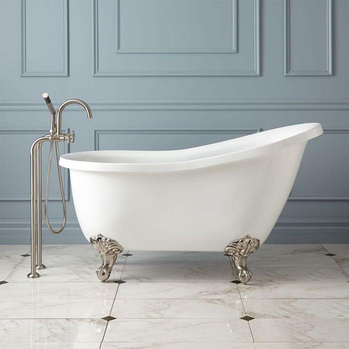 style ancienne baignoire petite dimension vintage sur pieds