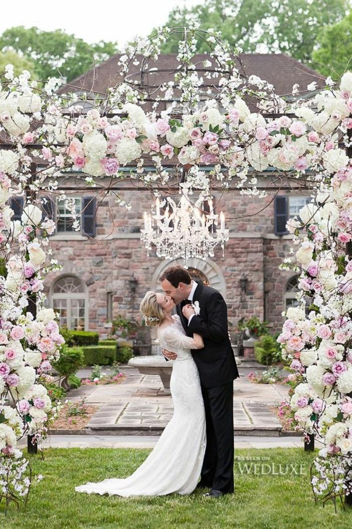 Honorable deco florale mariage arche florale arche de mariage adorable couple amour