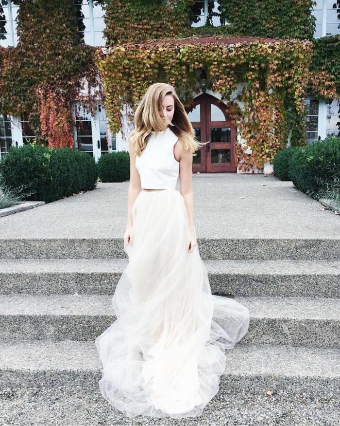 Magnifique robe mariée bohème robe de mariée haute couture cool idée