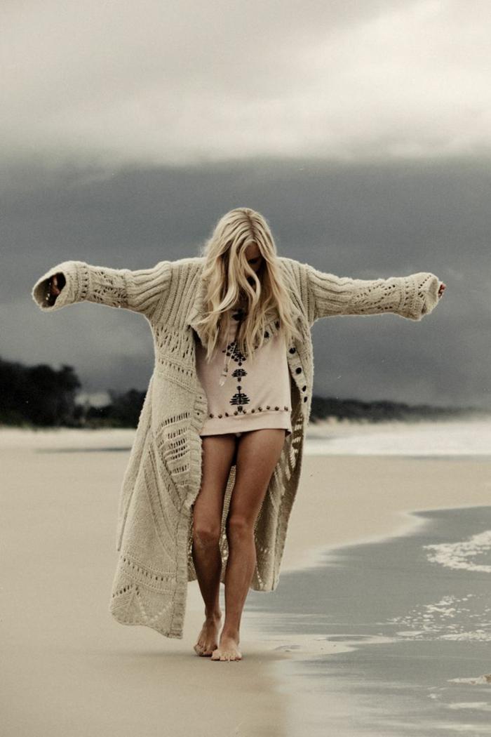 Robe boheme hippie chic vetement boheme chic style vintage tenue grande gilet longue blouse pour robe tenue de plage automne
