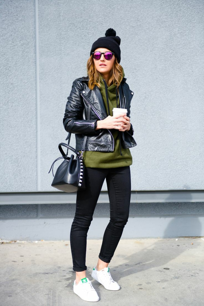 Femme stylée tenue femme swag les tenus swag tenue sportswear pantalon noir