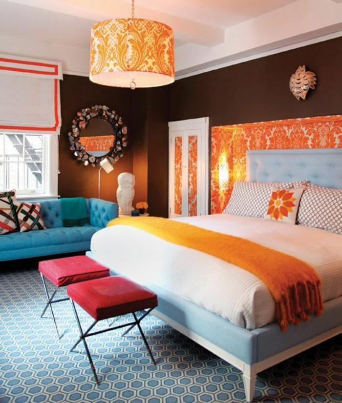 deco chambre adulte chambre a coucher pas cher style bohémien chic haut en couleurs