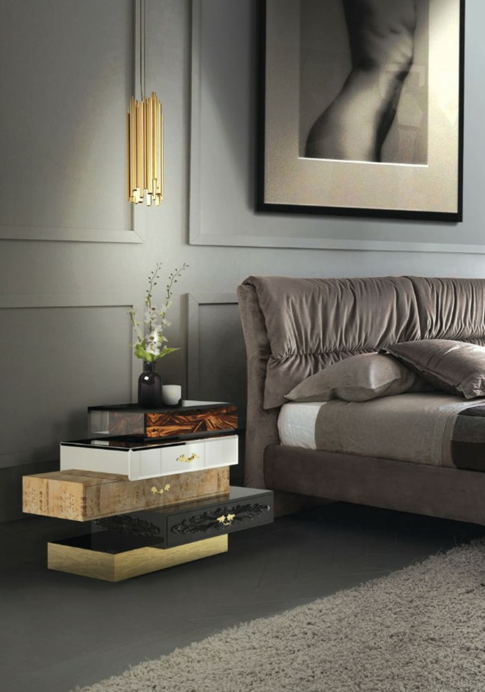 chambre design adulte idee deco chambre avec des murs gris et un tapis blanc crème