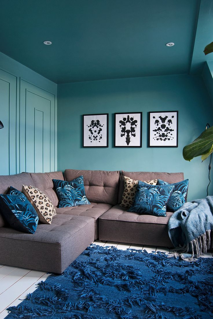 chambre bleu turquoise et taupe salon bleu lagon dulux. Black Bedroom Furniture Sets. Home Design Ideas