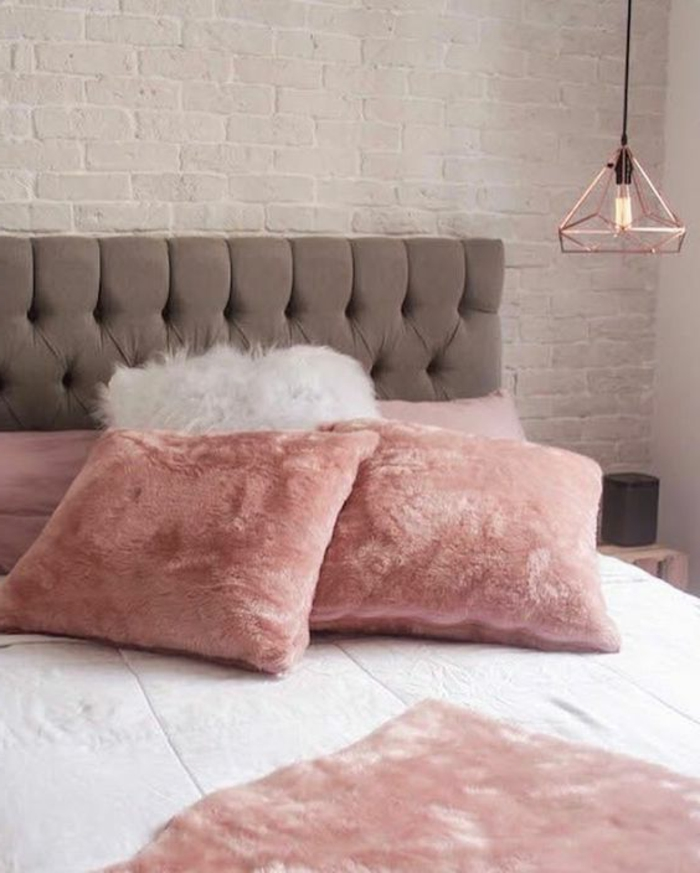 Emejing chambre gris et rose poudre gallery design for Chambre rose poudre