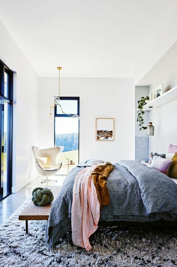 chambre gris clair fabulous sol gris clair quelle couleur pour les murs chambre pour enfant. Black Bedroom Furniture Sets. Home Design Ideas
