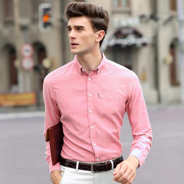 chemise homme luxe cintrée habillée casual en oxford
