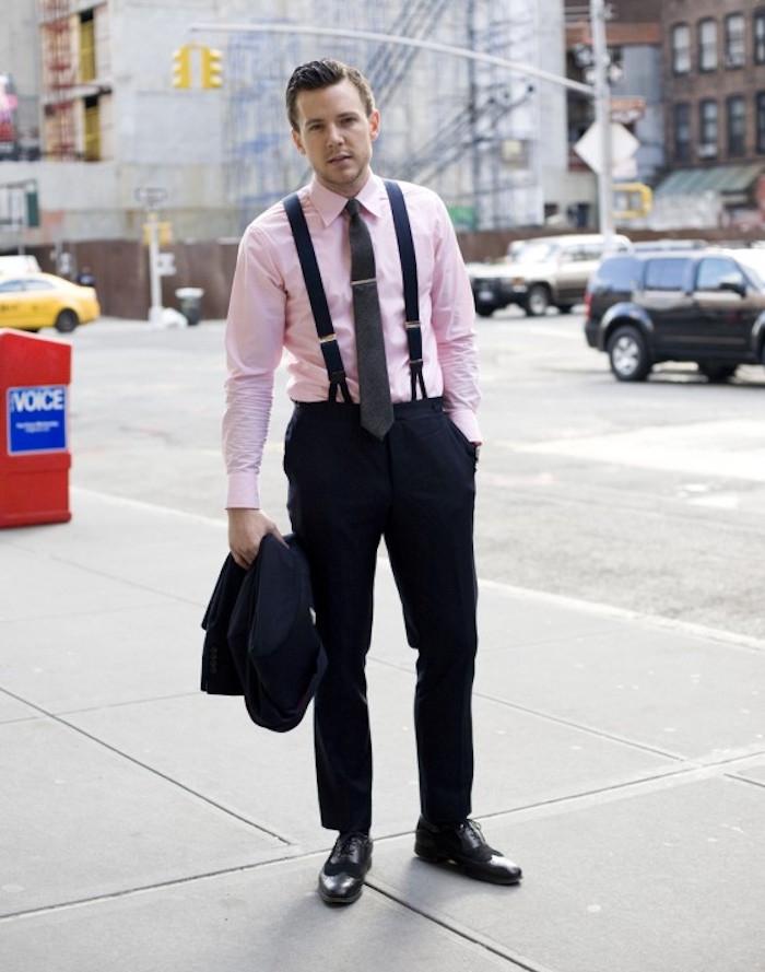 chemise homme costume rose uni manche longue habillée