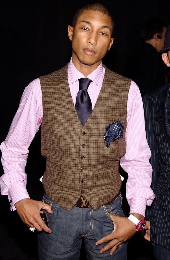 chemise homme style pharell william vetement rose fashion