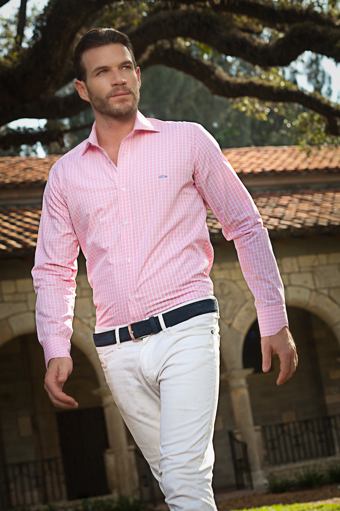 chemises pas cher à rayures blanches coupe droite manche longue
