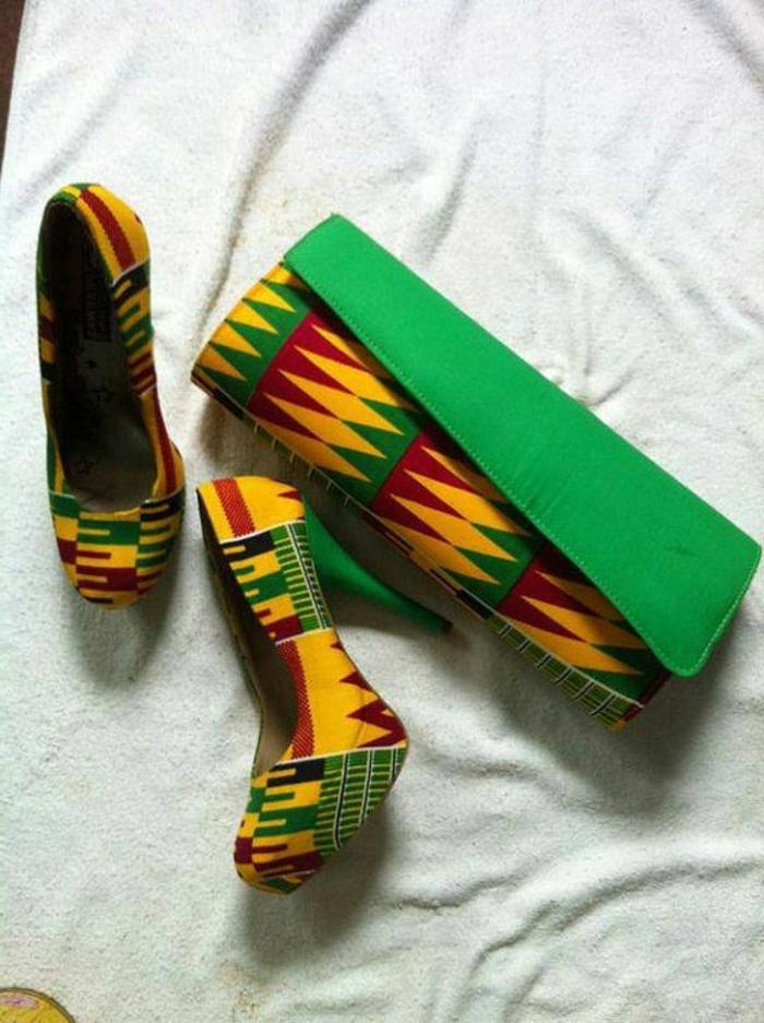 chic ethnique, sac à main pochette ethnique, imprimés africains en couleurs radiantes
