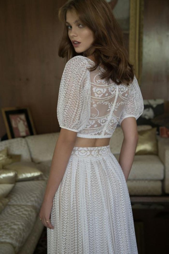 Noble robe de mariee sirene robe de mariée bohème chic mariage