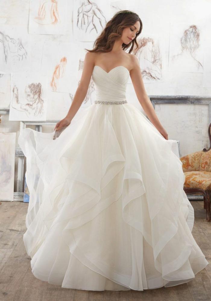 Robe mariage pas cher robe sirene mariage modern idée modèle Marissa Wedding Dress