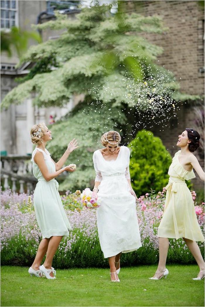 Quelle robe pour invité mariage tenue champetre femme belle photo la mariée et amies mariage vintage