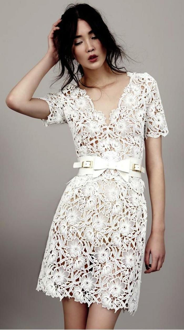 Moderne robe mariee courte robe de marié pas cher princesse dentelle beauté simple robe de mariee courte