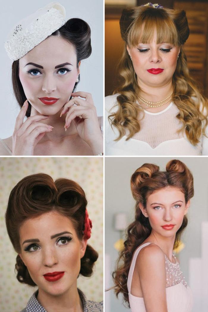 des idées de coiffure vintage de mariée pour un look élégant et ultra féminin