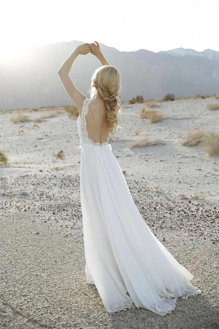 modele de coiffure, coiffure mariage cheveux long, couleur de cheveux blonds