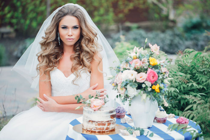 Coiffure mariage pour femme voilee