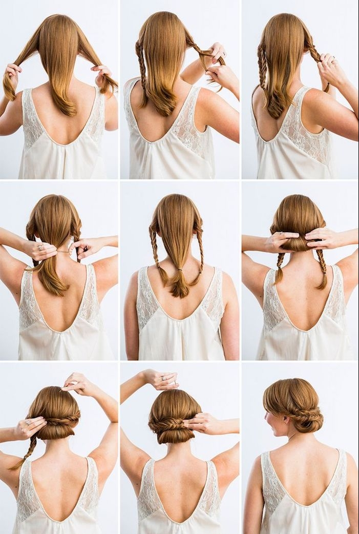 coiffure mariée, tutoriel facile coiffure, coloration cuivré, coiffure avec tresses, coiffure pas à pas