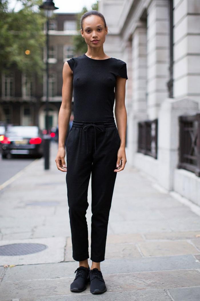 Comment bien s habiller ado tenue femme swag tenues swag baskets noirs