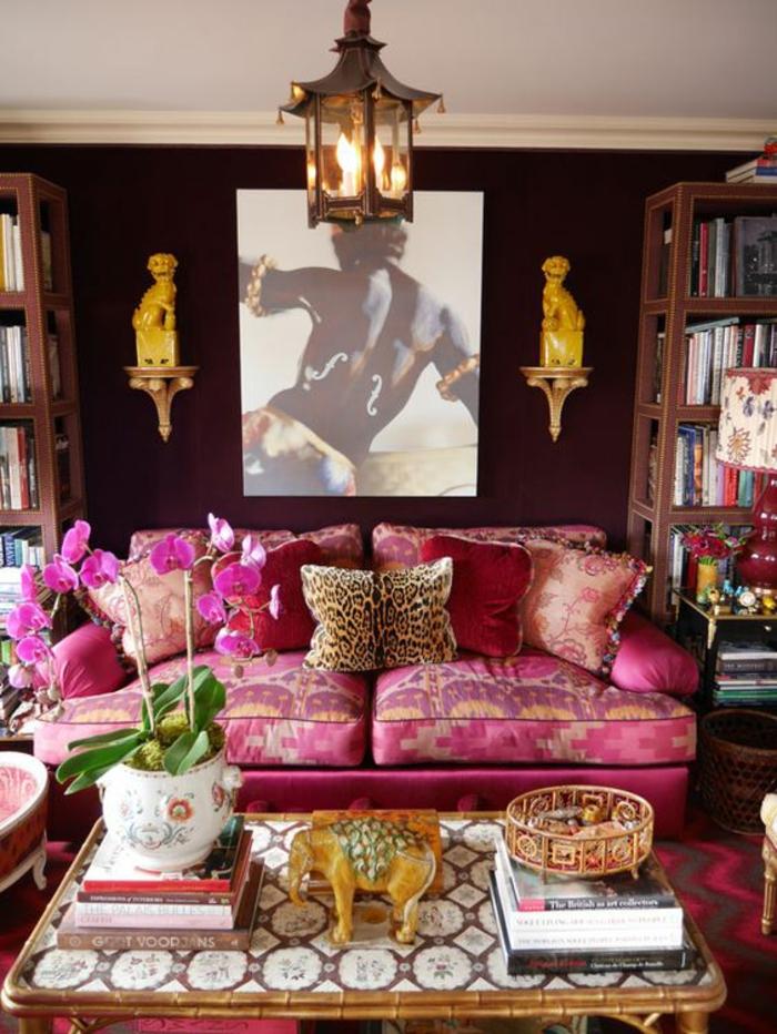 1001 id es pour am nager en fuchsia couleur des int rieurs attrayants - Salon style oriental chic ...