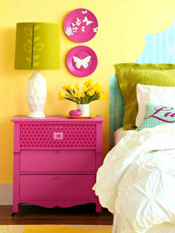 1001 id es pour am nager en fuchsia couleur des. Black Bedroom Furniture Sets. Home Design Ideas