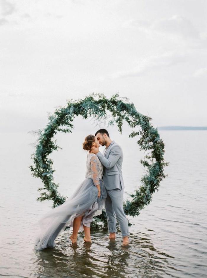 Super décoration florale mariage église composition florale mariage au bord de la mer