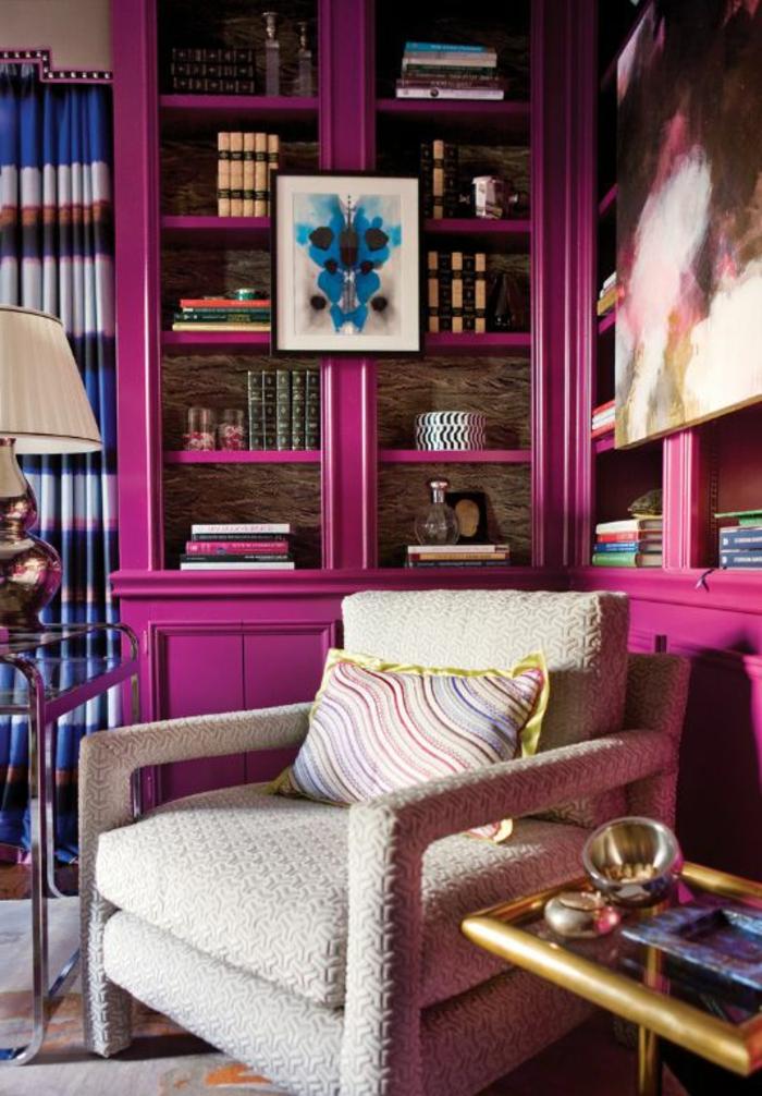 1001 id es comment combiner la couleur aubergine for Quelle couleur mettre dans un salon