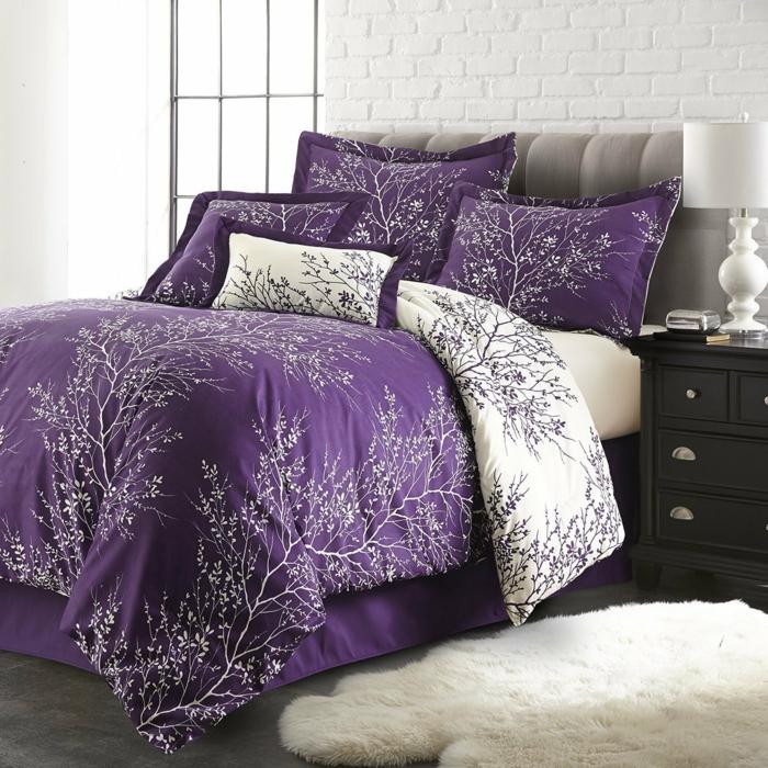 1001 id es pour la d coration d 39 une chambre gris et violet - Idee tapisserie chambre ...