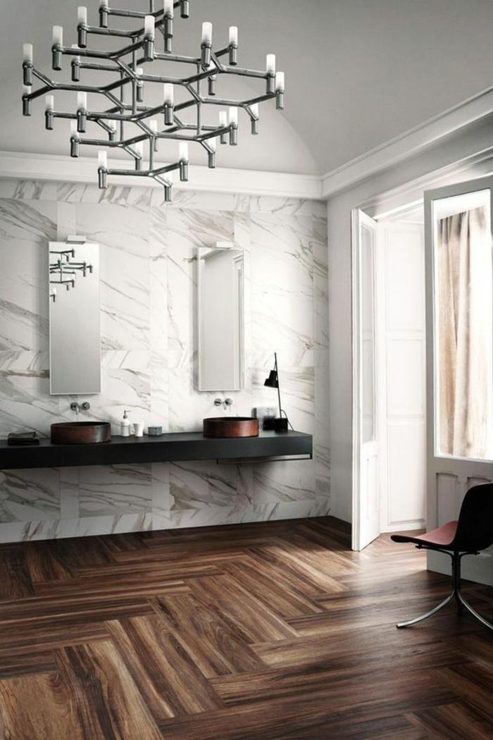 fabulous gris perle salle de bain avec grand luminaire baroque dans un style bougeoirs chandeliers with couleur gris perle peinture - Peinture Salle De Bain Gris Perle