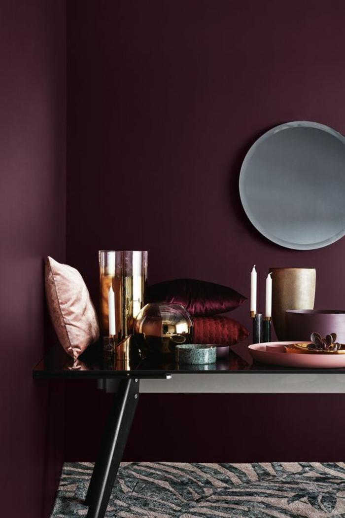Peinture Chambre Adulte Marron : Idées comment combiner la couleur aubergine