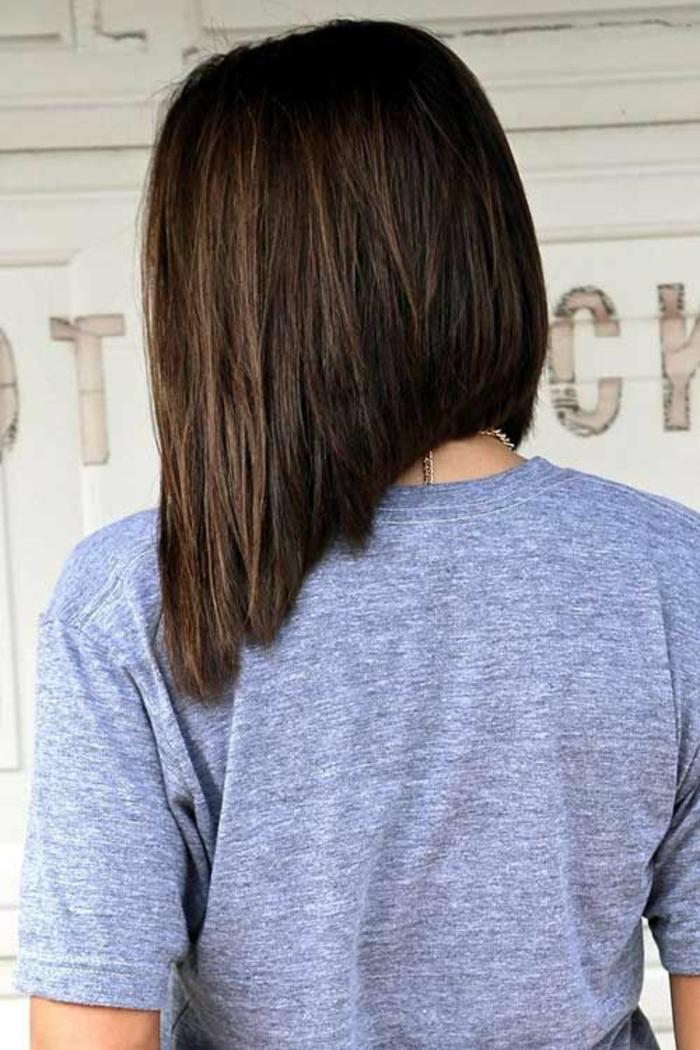 coupe de cheveux femme coupe asymétrique cheveux longs coupe carré