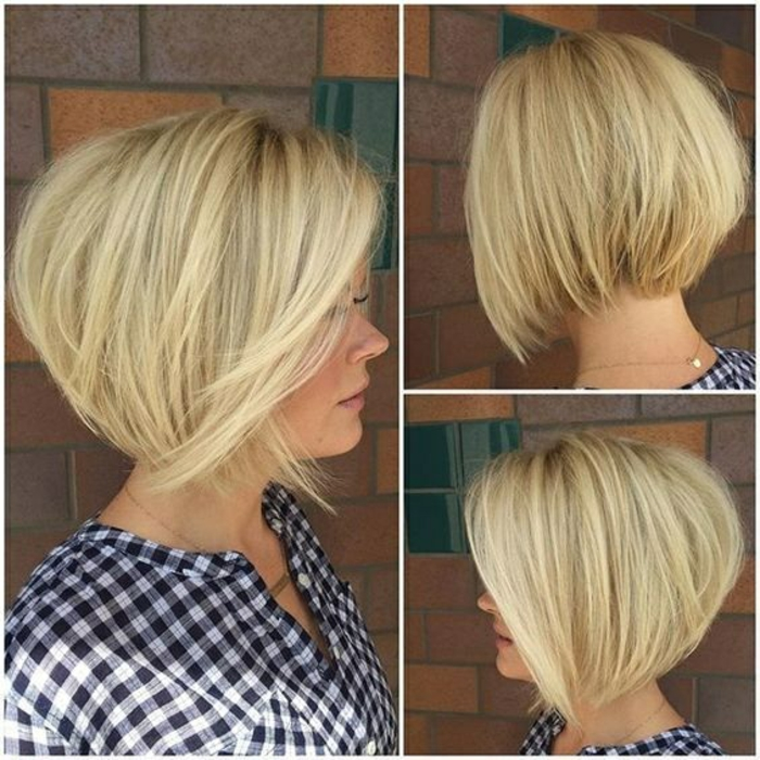 coupe de cheveux femme mi long blonde en forme de boule cheveux structurés
