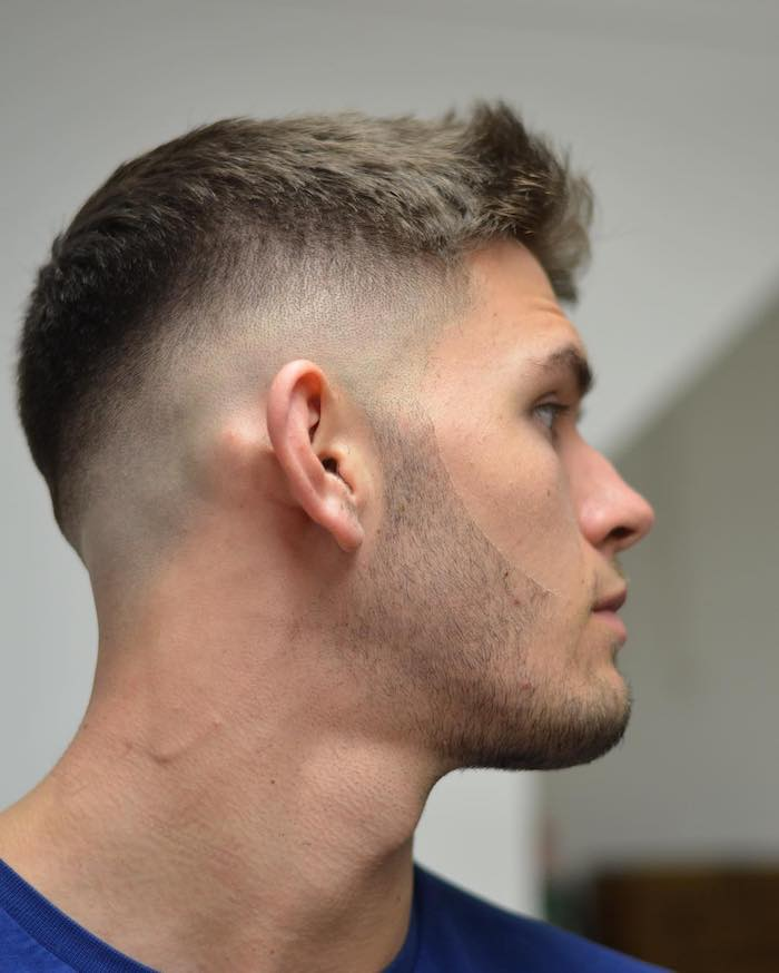 coiffure homme degrade blond