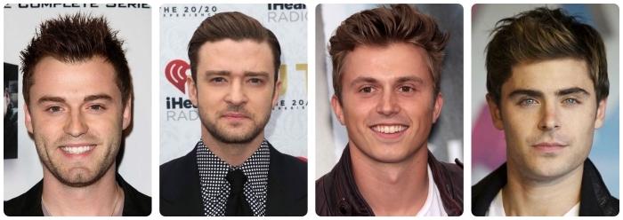 idée coupe de cheveux, quelle coiffure choisir pour un visage rond, célébrités masculines aux visages ronds