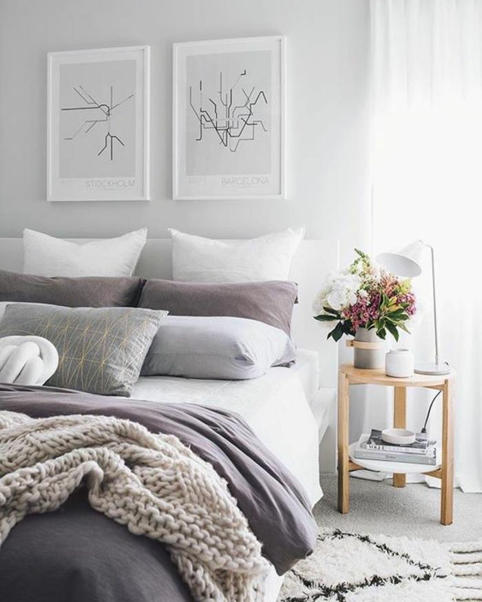 Signification violet chambre couleur taupe chambre grise et prune tableau