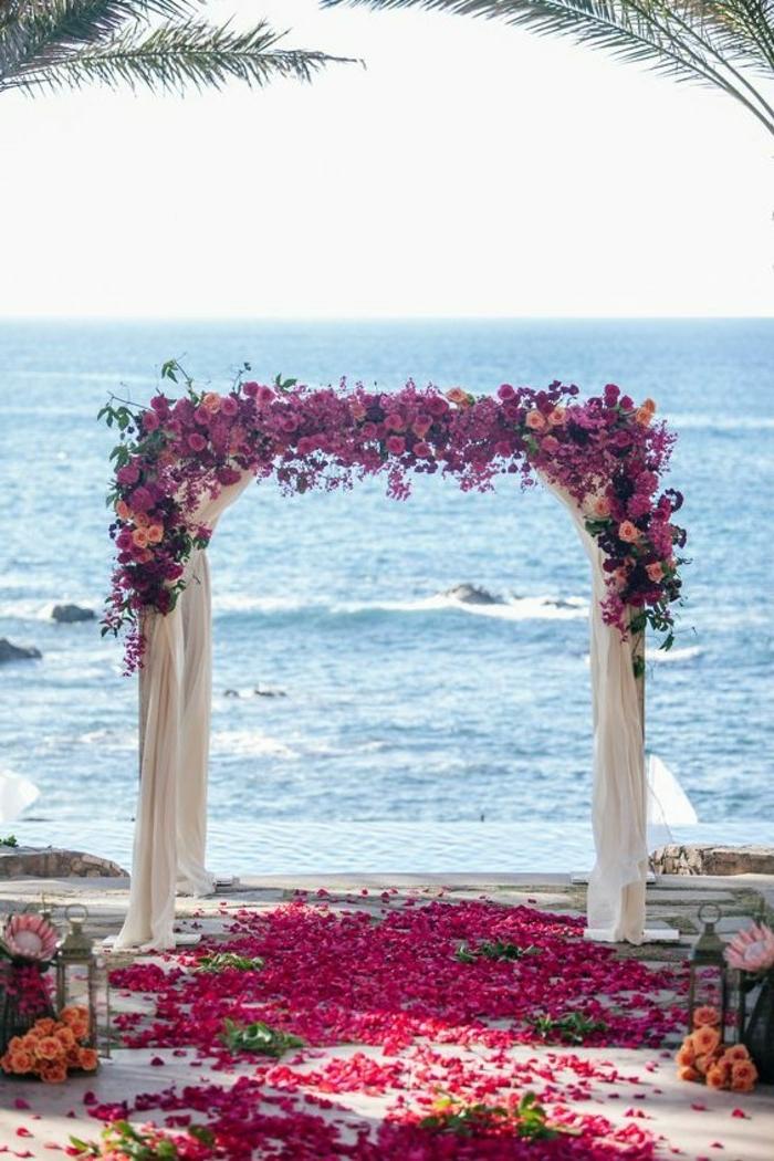 Arche fleurie mariage décoration fleur mariage bouquet mariée septembre