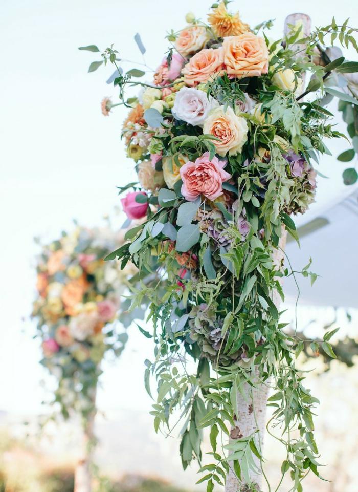 1001 id es inspiratrices pour une jolie arche fleurie mariage - Compo florale mariage ...