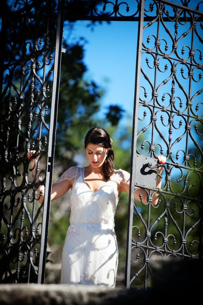 Superbe robe de mariée fluide robe de mariage sirene moderne