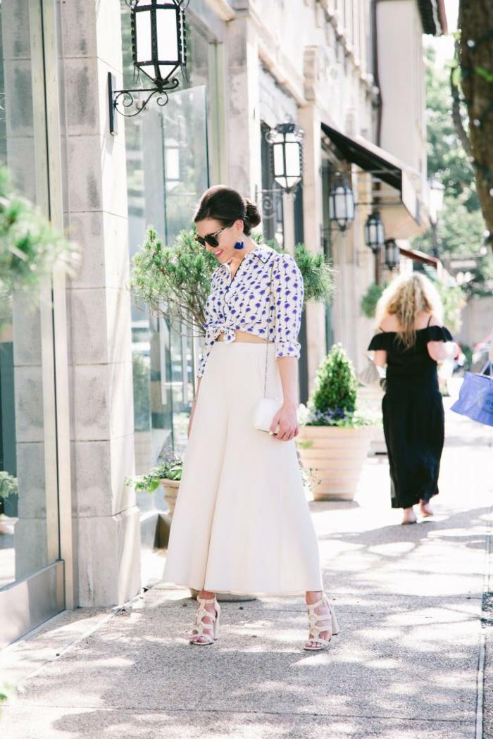Ravissante tenue chic robe rose poudré style classe femme tenue jupe longue blanche