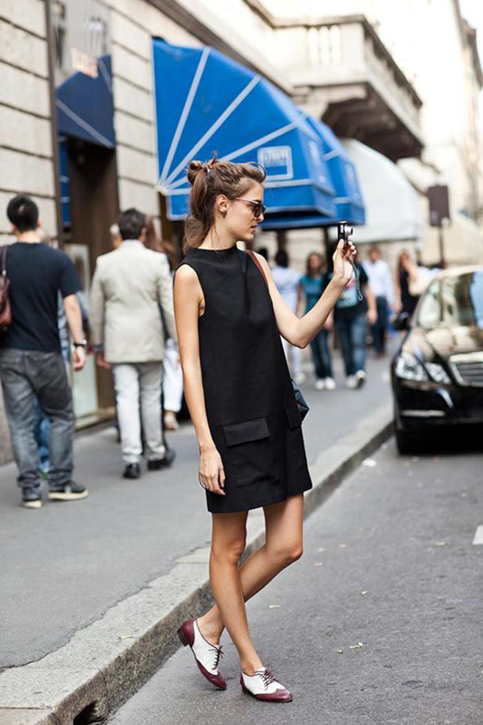 Bien s habiller comment s habiller demain moderne idée tenue belle robe noire courte chaussures
