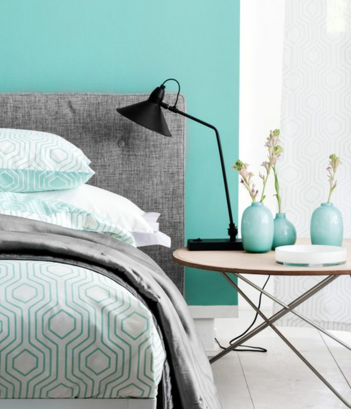 chambre gris et vert top chambre gris blanc bleu quelles. Black Bedroom Furniture Sets. Home Design Ideas