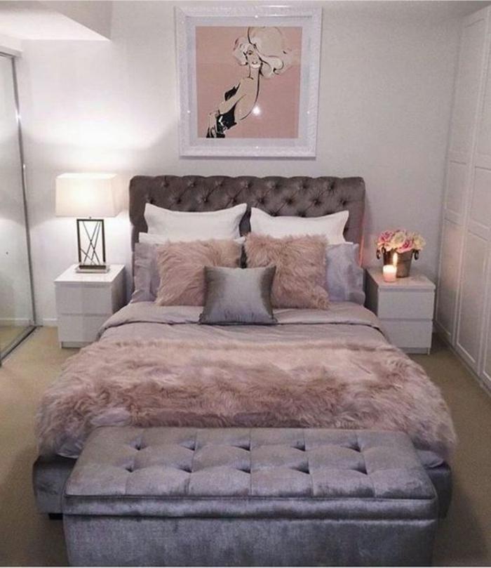 Chambre Adulte Romantique De Luxe : Idées pour chambre rose et gris les nouvelles