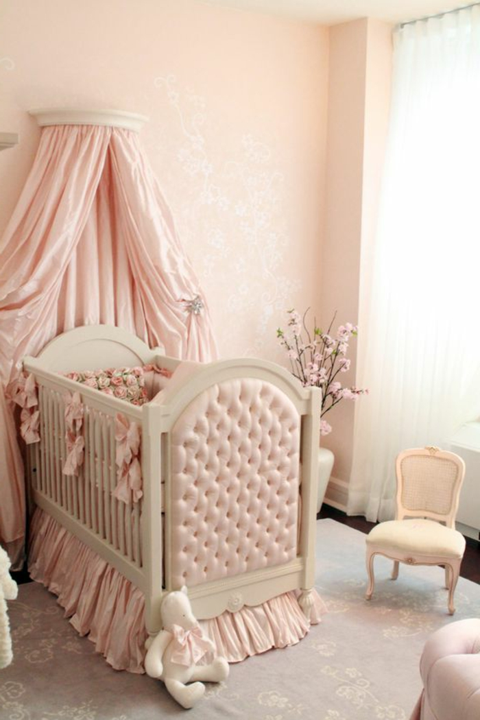 great deco chambre romantique ciel de lit rose peinture. Black Bedroom Furniture Sets. Home Design Ideas