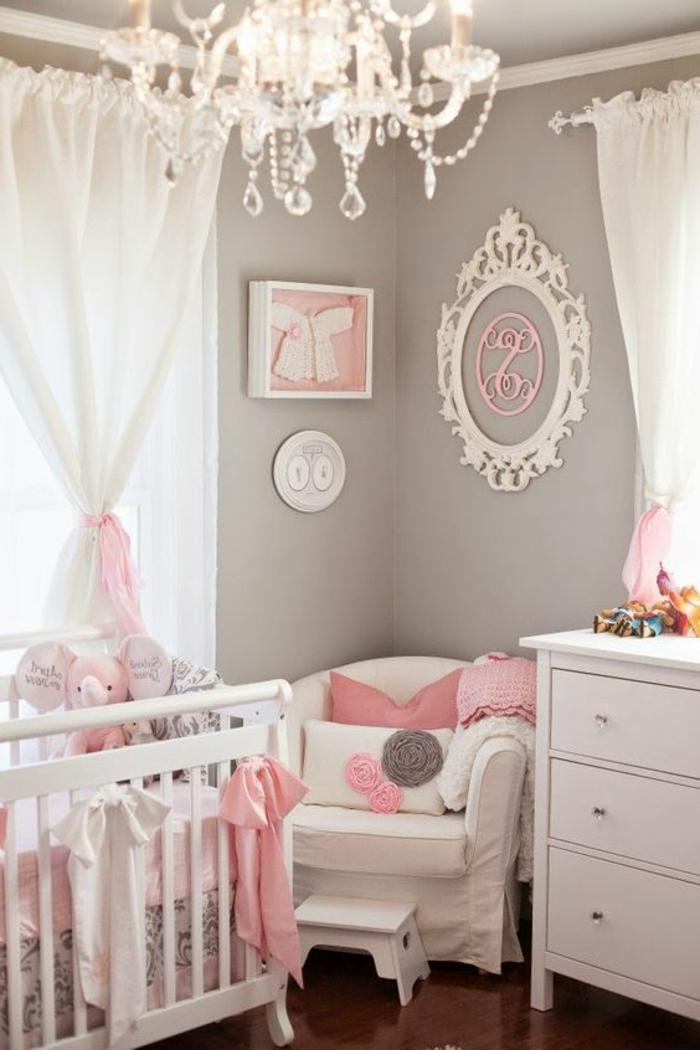 1001 id es pour chambre rose et gris les nouvelles - Commode chambre blanche ...