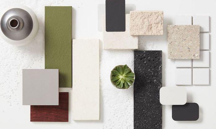 oasis tropical, design intérieur 2017, couleurs tendance 2017 nuances vertes et neutres, matériaux, objets décoratifs, petit cactus