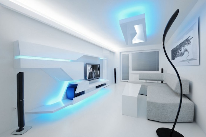 appartement moderne design futur deco de salon blanc