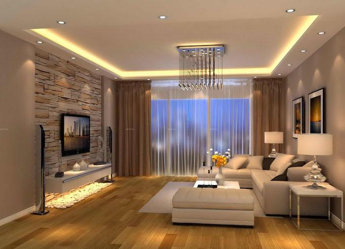 salon design moderne classique simple appartement contemporain